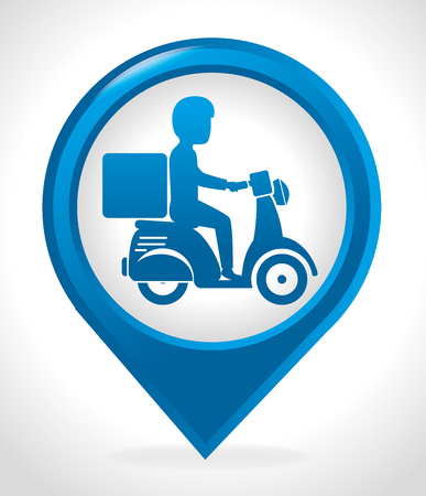 commerce and industry: Delivery and logistic business graphic design, vector illustration Illustration