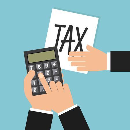 reckoning: taxs day design, vector illustration eps10 graphic
