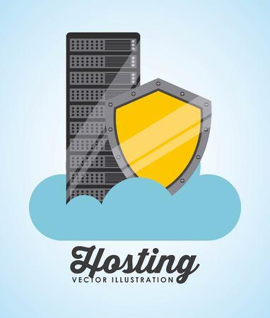 web hosting: data center design, vector illustration eps10 graphic
