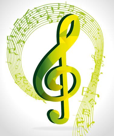 pentagramma musicale: Musica d'arte grafica, illustrazione vettoriale eps10 Vettoriali