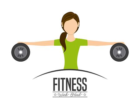 fitness workout: work hard design, vector illustration eps10 graphic Illustration