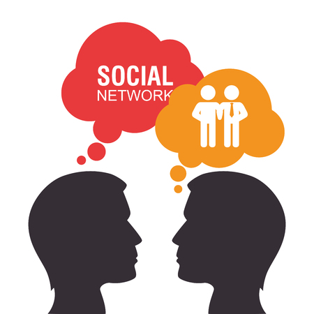 media network: Social media and network graphic design, vector illustration eps10 Illustration