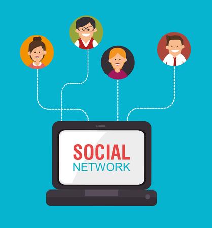 socializando: Social media and network graphic design, vector illustration eps10 Vectores