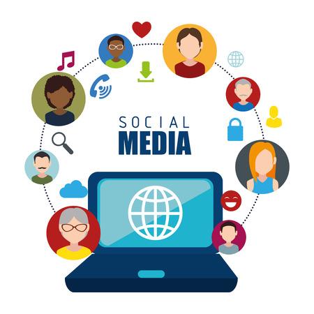 socialising: Red social y el diseño gráfico multimedia, ilustración vectorial eps10 Vectores