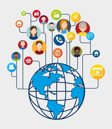 socialising: Social network and media graphic design, vector illustration eps10 Vectores