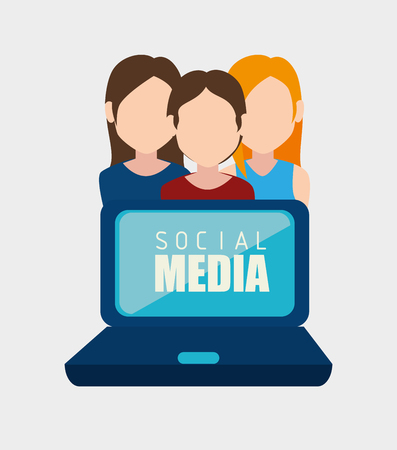 socializing: Social network and media graphic design, vector illustration eps10 Vectores