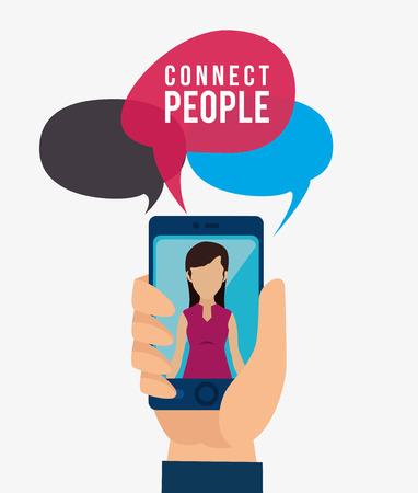 media network: Social network and media graphic design, vector illustration eps10 Illustration