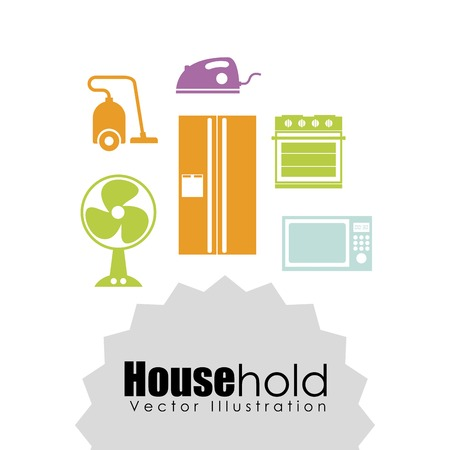 iron fan: house hold design, vector illustration eps10 graphic Illustration