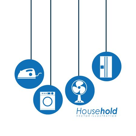 business symbol: house hold design, vector illustration eps10 graphic Illustration