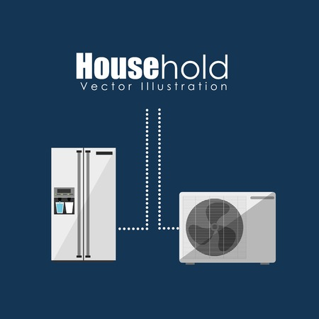 conditioned: house hold design, vector illustration eps10 graphic Illustration