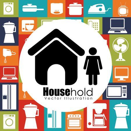 iron fan: house hold design, vector illustration eps10 graphic Illustration