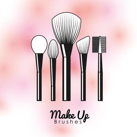 femininity: fashion make up design, vector illustration eps10 graphic Illustration
