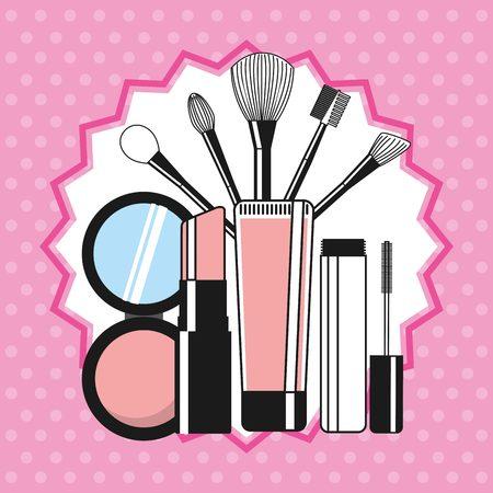 fashion make up: fashion make up design, vector illustration eps10 graphic Illustration
