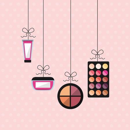 cosmetic product: fashion make up design, vector illustration eps10 graphic Illustration
