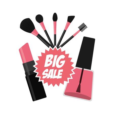makeup products: fashion make up design, vector illustration eps10 graphic Illustration