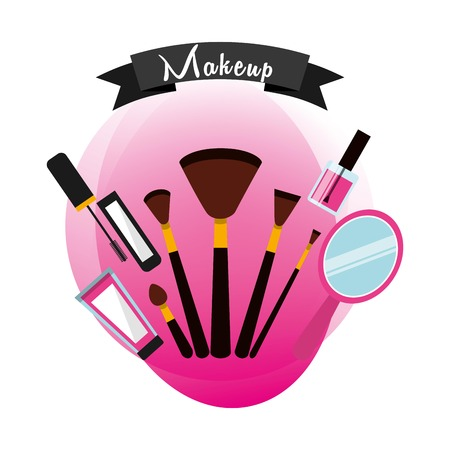 Fashion Make up-Design, Vektor-Illustration eps10 Grafik
