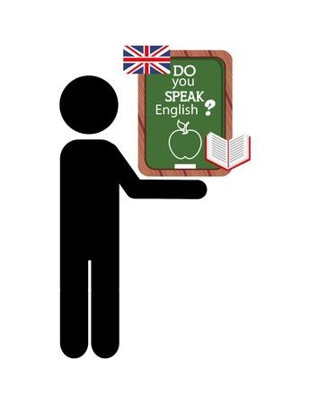 study icon: learn english design, vector illustration eps10 graphic