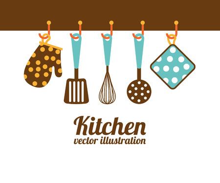 Küchenkonzept Design, Vector Illustration eps10 Grafik