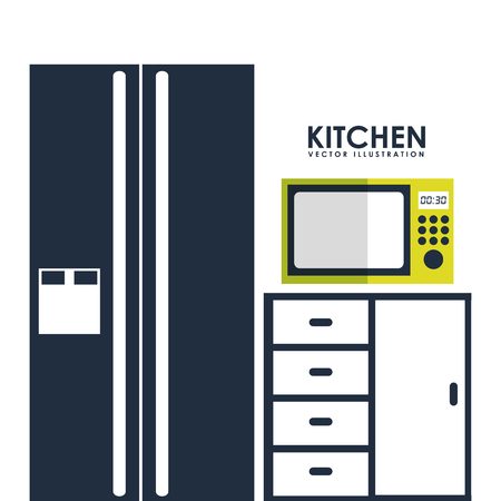 microwave ovens: kitchen concept  design, vector illustration eps10 graphic