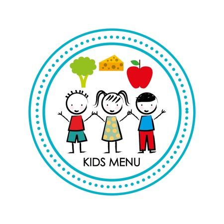 Los niños menú de diseño, ilustración vectorial gráfico eps10 Foto de archivo - 50074082