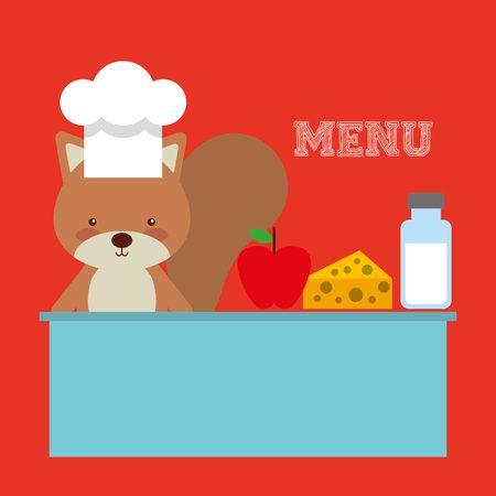 childrens food: kids menu design, vector illustration eps10 graphic Illustration