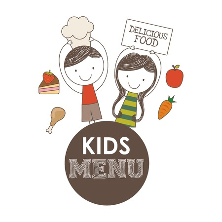 child food: kids menu design, vector illustration eps10 graphic Illustration