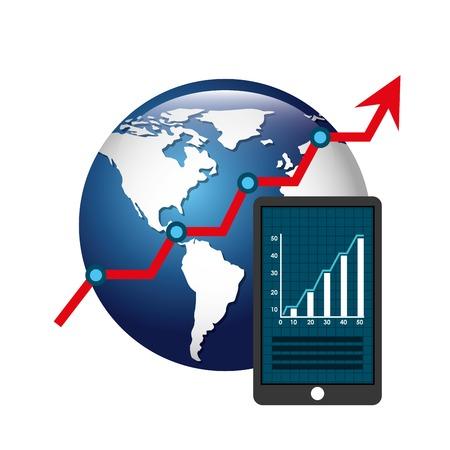 economia: diseño global ecomomy, ejemplo gráfico del vector eps10