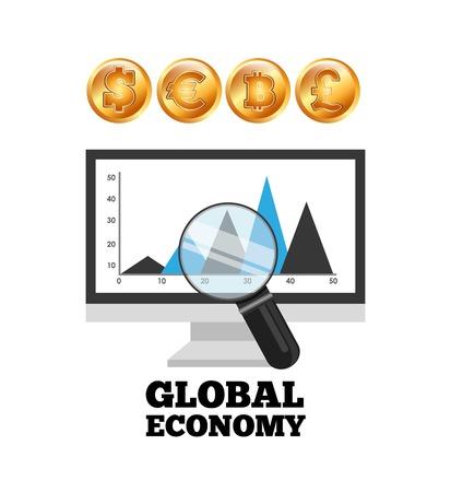 frank: global ecomomy design, vector illustration eps10 graphic