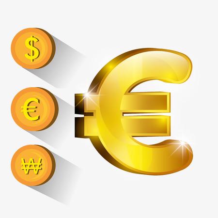 Money and global economy graphic design, vector illustration