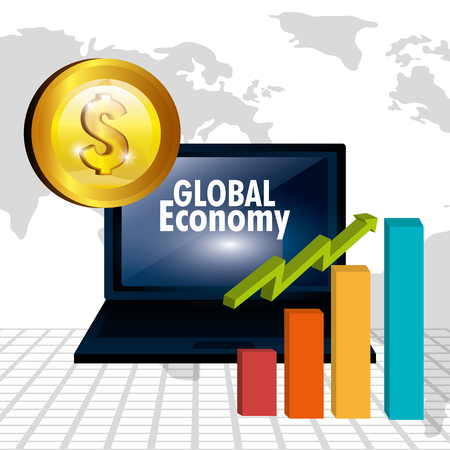 incomes: Money and global economy graphic design, vector illustration