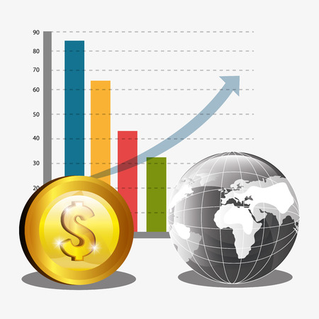 abundance of money: Money and global economy graphic design, vector illustration