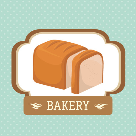 gastronomy: Bakery food and gastronomy graphic design, vector illustration