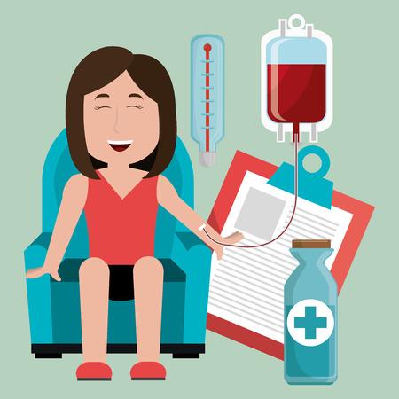 blood bag: Medical healthcare graphic design, vector illustration eps10 Illustration