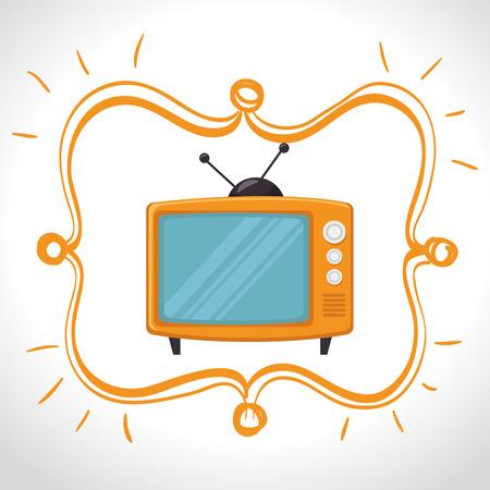 cinema viewing: Television entertainment graphic design, vector illustration eps10 Illustration