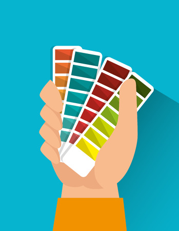 pantone: Pantone colors graphic design, vector illustration eps10 Illustration