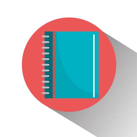 school notebook icon graphic design, vector illustration eps10 Illustration