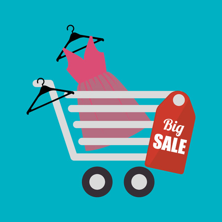Shopping, sales and ecommerce graphic design, vector illustration eps10