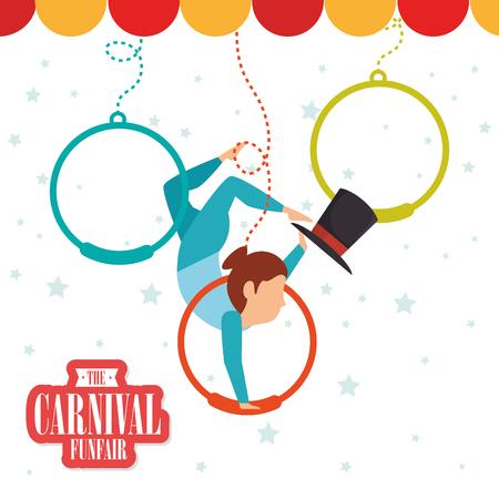 cirque: Circus carnival funfair graphic design ,vector illustration eps10