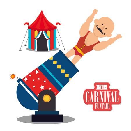 cartoon circus: Circus carnival funfair graphic design ,vector illustration eps10