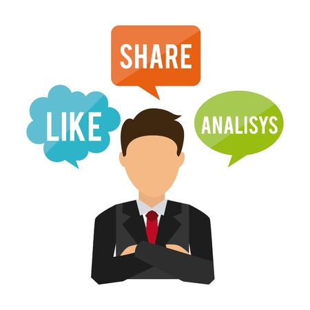analisys: businessman concept design, vector illustration eps10 graphic