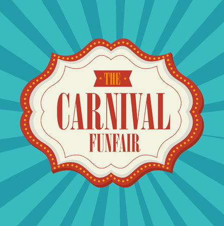 Circus carnival entertainment graphic design, vector illustration Ilustrace