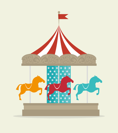 horse laugh: Circus carnival entertainment graphic design, vector illustration Illustration