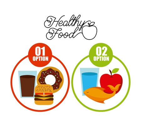 food plate: healthy food design, vector illustration eps10 graphic