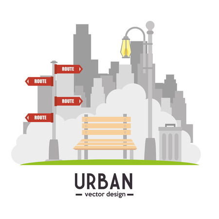 lawn chair: Urban and cityscape design, vector illustration graphic