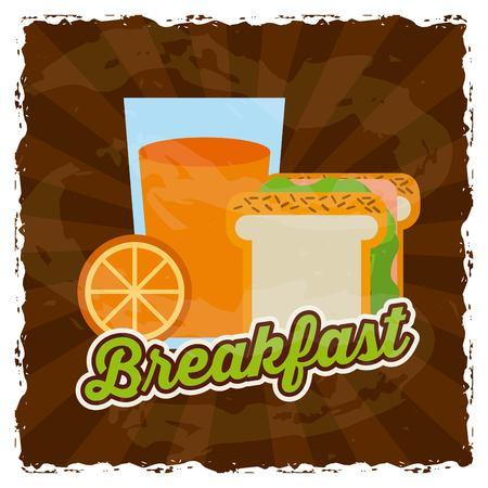 sandwish: delicious breakfast design, vector illustration eps10 graphic Illustration