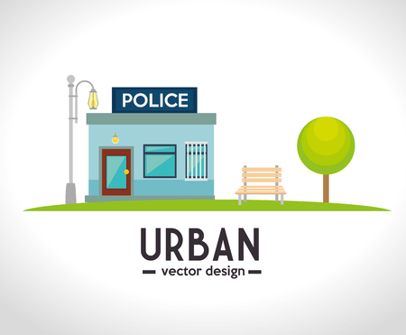 urbanization: Urban and cityscape design, vector illustration graphic