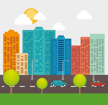 edifice: Urban and cityscape design, vector illustration graphic