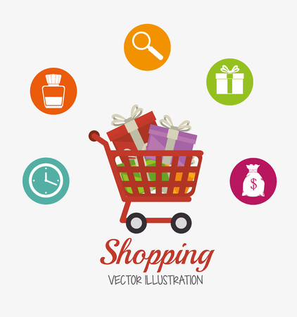 technology transaction: Ecommerce and shopping graphic design, vector illustration eps10 Illustration