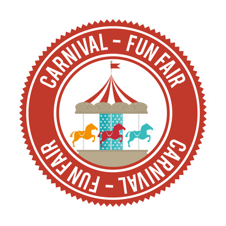 Circus carnival entertainment graphic design, vector illustration Çizim