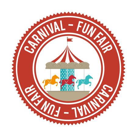 Zirkus Karneval Unterhaltung Grafik-Design, Vektor-Illustration Standard-Bild - 50646395
